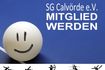 Sportgemeinschaft Calvörde / SG Calvörde Mitglied werden - Eintrittserklärung