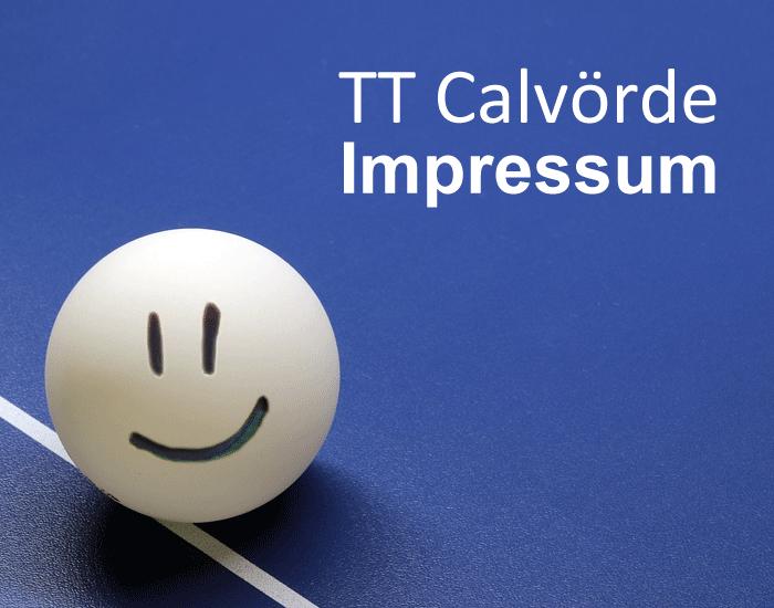 Tischtennis Verein Calvörde (Bördekreis, Sachsen-Anhalt) Impressum