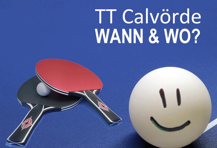 Tischtennis Verein Calvörde (Bördekreis, Sachsen-Anhalt) Trainingszeiten und Spiellokal