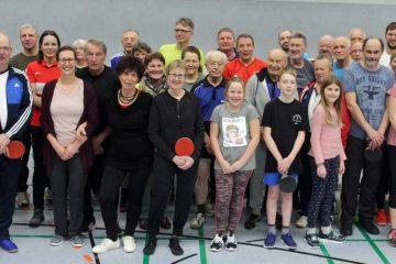 Gruppenbild der Dorfmeisterschaften im Tischtennis 2020