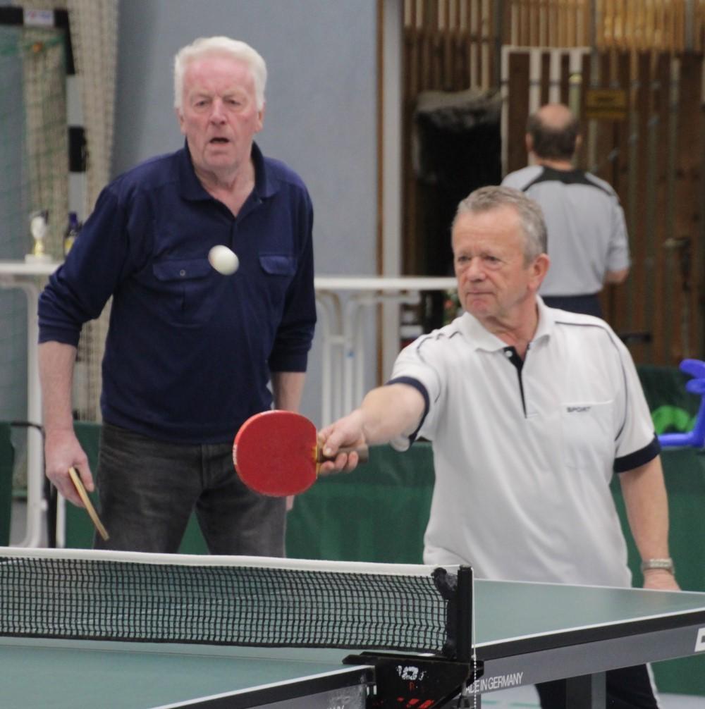 In Aktion, Foto der Dorfmeisterschaften im Tischtennis 2020