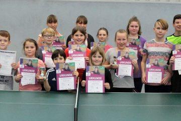 Gruppenbild der Minimeisterschaften Kinder im Tischtennis 2020